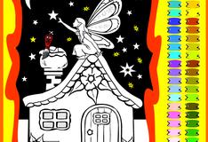 Игра Раскрась волшебницу