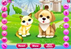 Игра Котенок и щенок