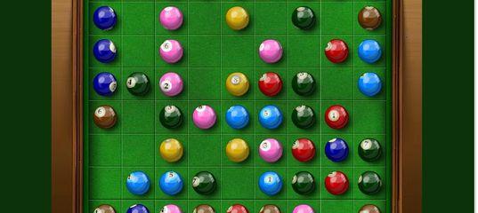 Игра Бильярд: Разноцветные линии