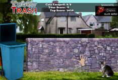 Игра Кот из мусорки