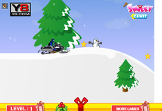 Игра Гонки на снегоходах
