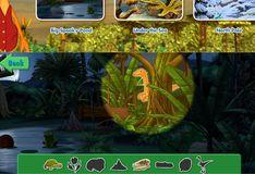 Игра Игра Поезд Динозавров: Поиск предметов
