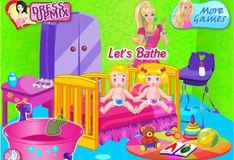 Игра Игра Барби Няня Близнецов