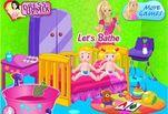 Игра Барби Няня Близнецов
