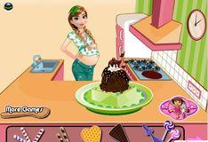 Игра Игра Беременна Анна готовит мороженное
