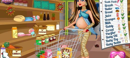 Игра Беременная Клео Де Нил. Детские покупки