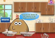 Игра Игра Поу моет посуду