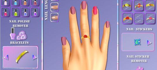 Игра Принцесса Рапунцель: Ногтевой Макияж