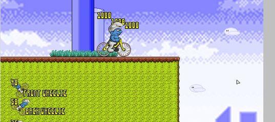 Игра Смурфики Велосипед BMX