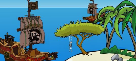 Игра Побег с сокровищами с острова пиратов