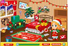 Игра Уборка в комнате после рождественской вечеринки