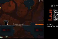 Игра Выбраться из лавы вулкана