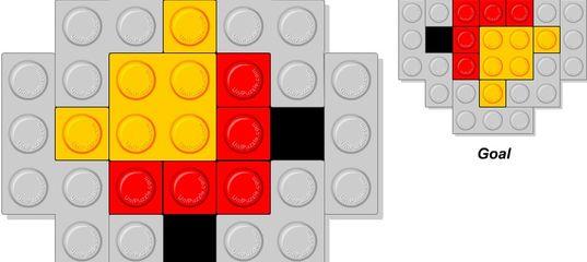 Игра Головоломка Лего конструктор