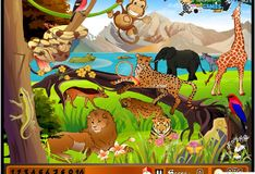 Игра Игра Найди цифры в зоопарке