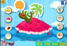 Игра Украшение торта для русалочки