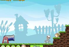 Игра Пушка со скелетами