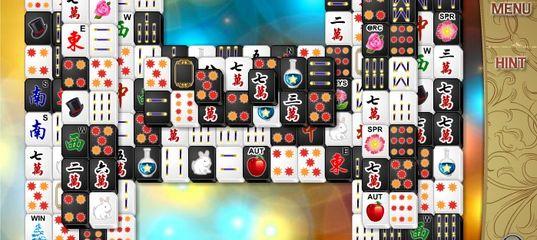 Игра Чёрно-белые кости Маджонг