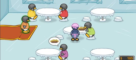 Игра Кафе пингвинов