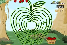 Игра Доведи яблоки до корзинки