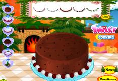 Игра Украшение рождественского торта