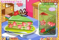 Игра Игра Кулинария Клубничный торт