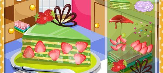 Игра Кулинария Клубничный торт