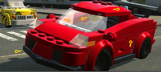 Игра Лего автомобили: Найдите ключи