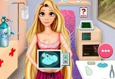 Игра Игра Беременная Рапунцель в скорой помощи