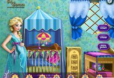 Игра Игра Беременная Эльза декорирует детскую