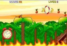 Игра Обезьянка  собирает фрукты