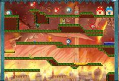 Игра Игры на двоих: Огонь и вода 7: Кот огонь и кошка вода