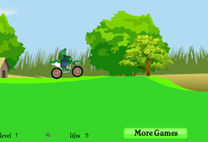 Игра Халк на велосипеде