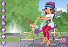 Лейла на велосипеде