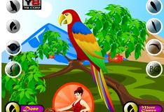 Игра Укрась попугая