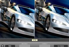 Отличия на фото спортивной машины