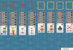 Игра Игра Пасьянс Свободная ячейка