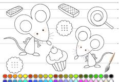 Игра Раскрась мышей