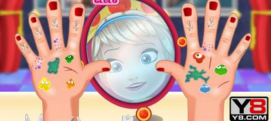 Игра Малышка Эльза: операция на руке