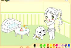 Игра Девочка и щенок