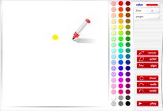Игра раскраска Рисуем картинку фломастером