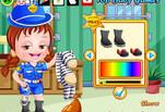 играйте в Игра Малышка Хейзел Полицейская одевалка