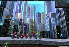 Герои Мрвел на мотоциклах