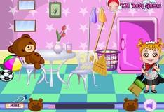 Игра Игра Малышка Хейзел убирает в комнате