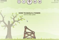 Игра Построй башню в разное время года