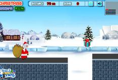 Санта Клаус бегун
