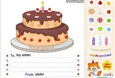 Игра Игра Готовка тортов Счастливого дня рождения!