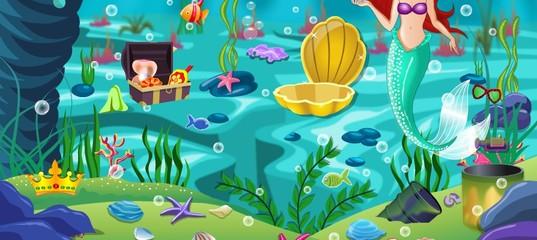 Игра Принцесса Ариэль Уборка океана