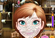 Принцесса Анна макияж на Хэллоуин