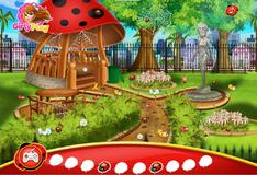 Игра Леди Баг украшает сад
