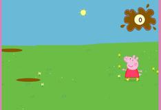 Свинка Пепа прыгает по лужам